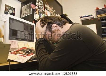 I give up! - stock photo