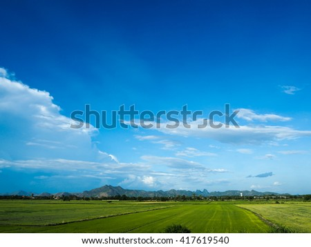I go to travel by the train that I see cornfield, mountain , blue sky and sometimes you can see many of cows. I think it's very beautiful and very impressive. My memory. Thailand place.