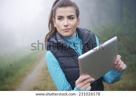 I have to find good way for jogging   - stock photo