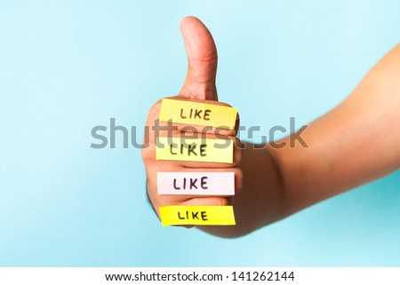 I like it four times - stock photo