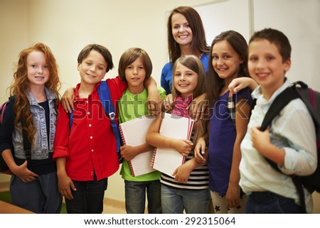 I like my work and my students  - stock photo