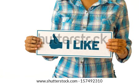 I Like Thumbs Up - stock photo