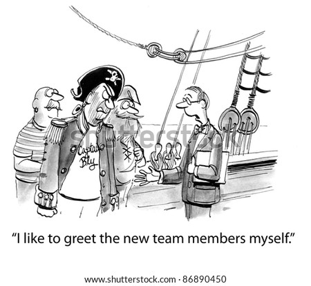 I like to greet the new team members myself. - stock photo