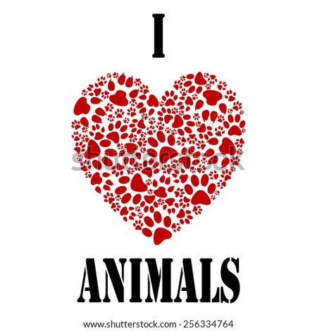 I love animals - stock photo