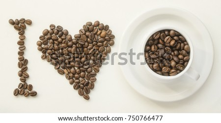 I love coffe of roasted coffee beans