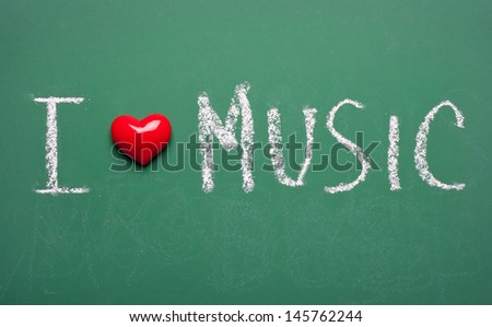 I love music - stock photo