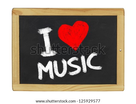 I love music on a blackboard