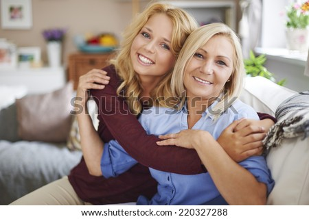 I love my mom so much  - stock photo