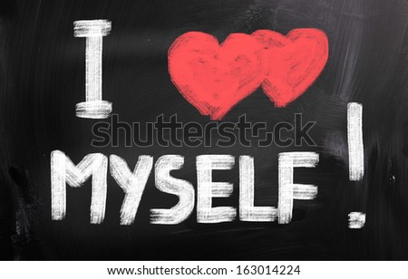 I Love Myself Concept - stock photo