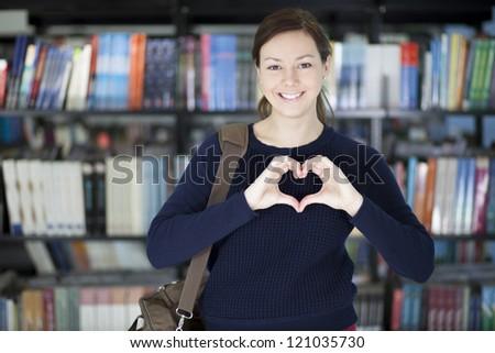 I love school! - stock photo