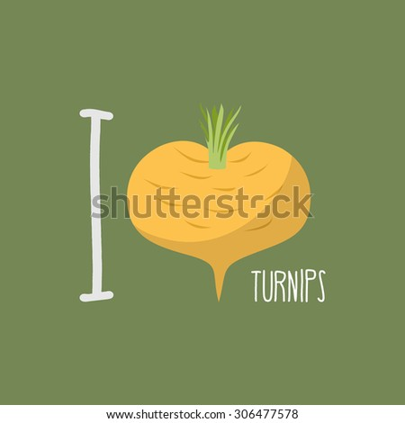 I love turnips.  heart of yellow turnips.  - stock photo
