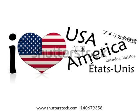 I love USA - stock photo