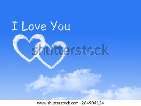 I love you - stock photo