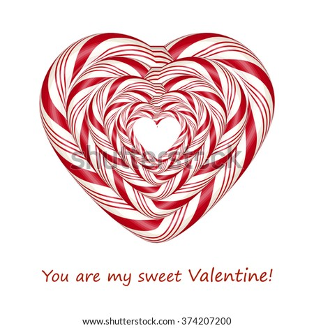 I Love you. Candy card.  - stock photo