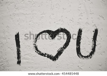 I love you concept background decoration - stock photo