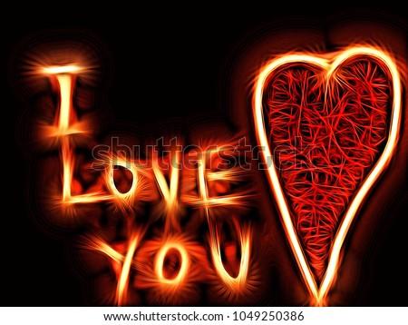 I Love You Gothic Heart Theme