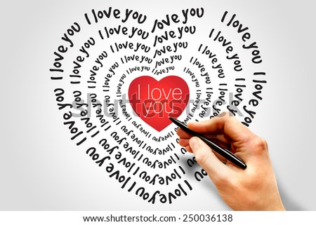 I love you heart, Valentine's Day Greeting card - stock photo