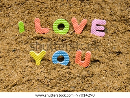 I love you sign - stock photo