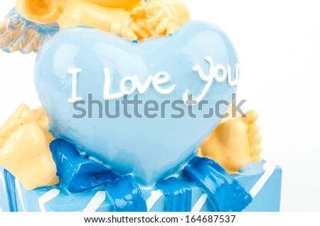I love you word isolated white background