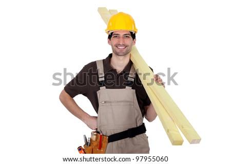 I'm gonna finish the roof - stock photo