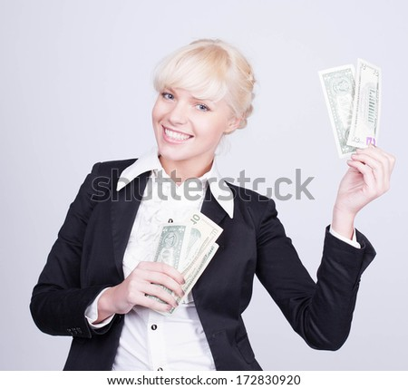 I'm In the Money - stock photo