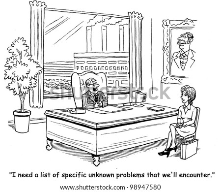I need a list of specific unknown problems we will encounter - stock photo