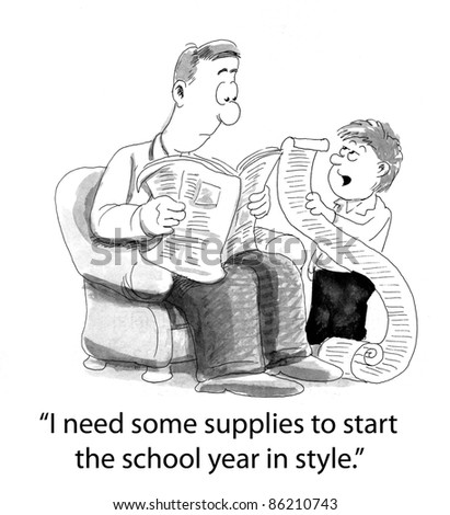 I need some supplies to start the school year in style - stock photo