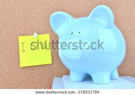 I Owe Money - stock photo