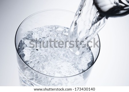 I pour the water - stock photo