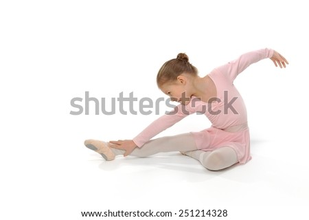 I will become a great ballerina.  - stock photo