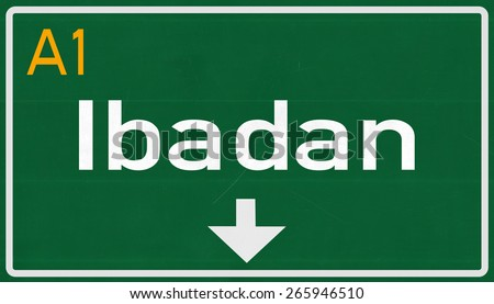 Road Signs in Nigeria Ibadan Nigeria Highway Road