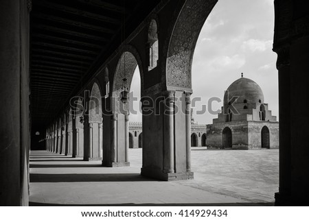Ibn Tulun Mosque in Cairo, Egypt - stock photo