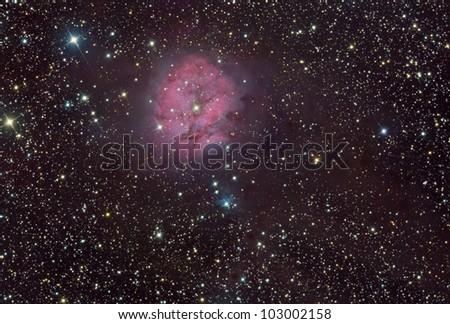 IC 5146 Coon Nebula - stock photo