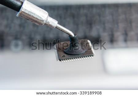 ic microchip - stock photo