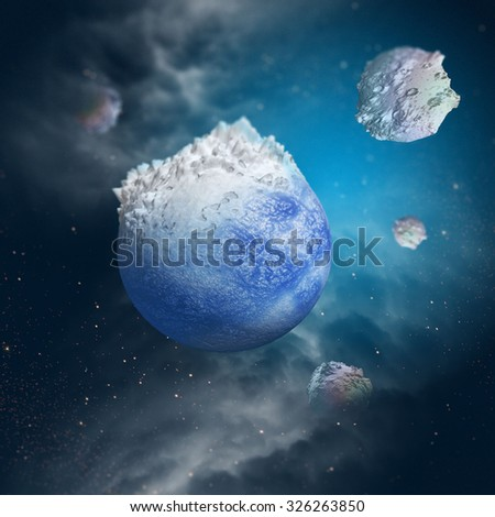 Ice Age on Earth - stock photo
