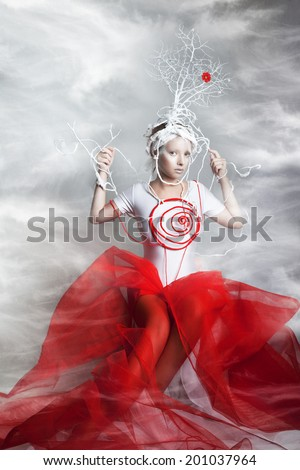 Ice and Fire - stock photo