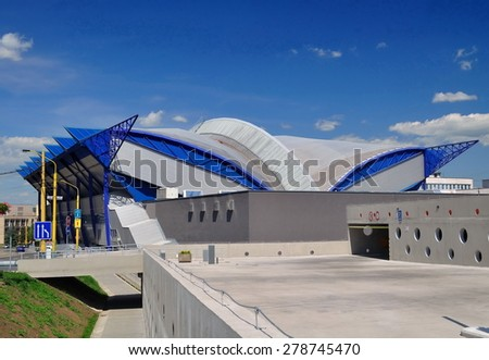 Ice Arena. Sunny day. Kosice. Slovakia. - stock photo
