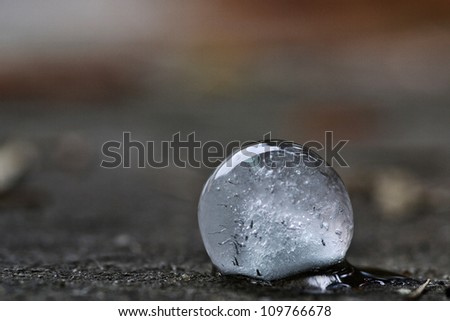 Ice Ball - stock photo