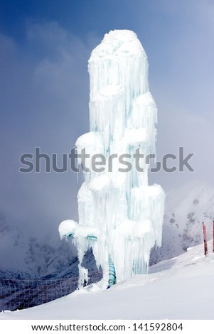 Ice bar - stock photo