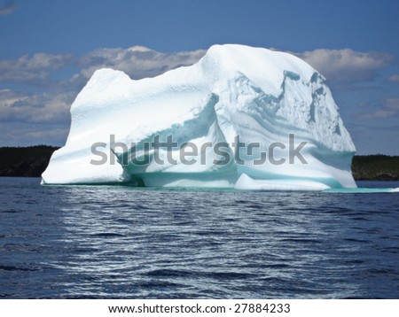 Ice Berg in Ocean off Newfoundland - stock photo