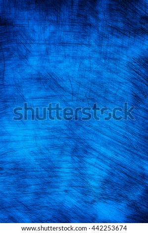 Ice blue scratched wall as background. - stock photo