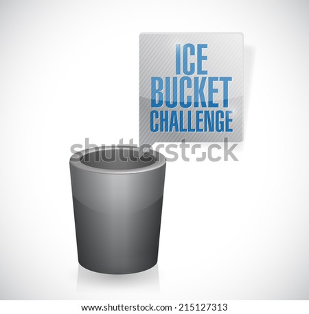ice bucket challenge illustration design over a white background