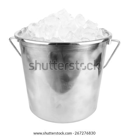 ice bucket isolated on a white background - stock photo