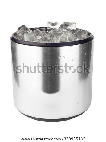 ice bucket isolated on a white background
