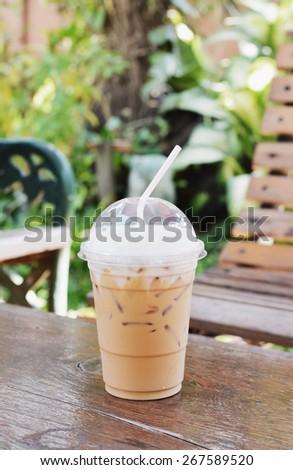 ice cappuccino coffee - stock photo
