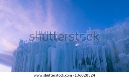 Ice Castles of Silverthorne, Colorado.