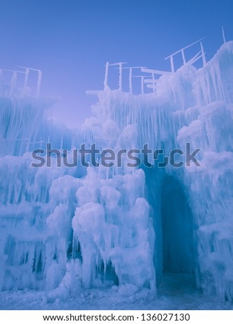 Ice Castles of Siverthorne, Colorado.