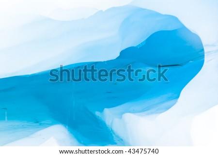 Ice cavern - stock photo