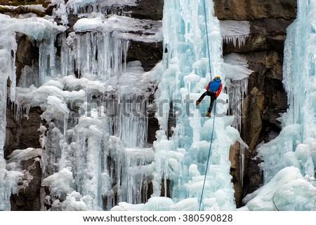 Ice Climbing - stock photo
