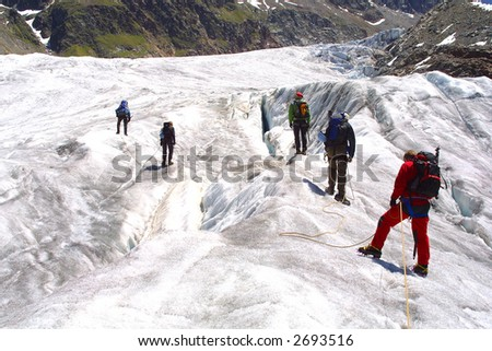 Ice climbing group